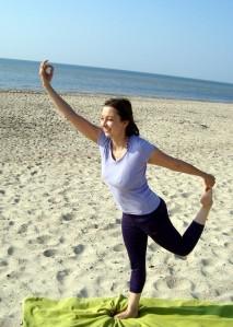 Yogaübung: Tänzer