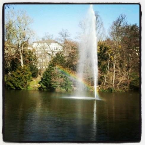 Regenbogen im Wiesbadener Kurpark