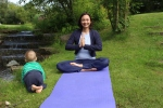 Stefanie im Meditationsitz