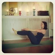 Yoga-Übung das Boot