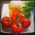 Tomaten und Fenchel