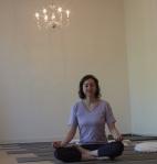 Yogastern meditiert