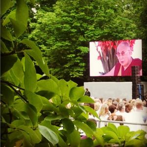 Dalai Lama im Kurpark