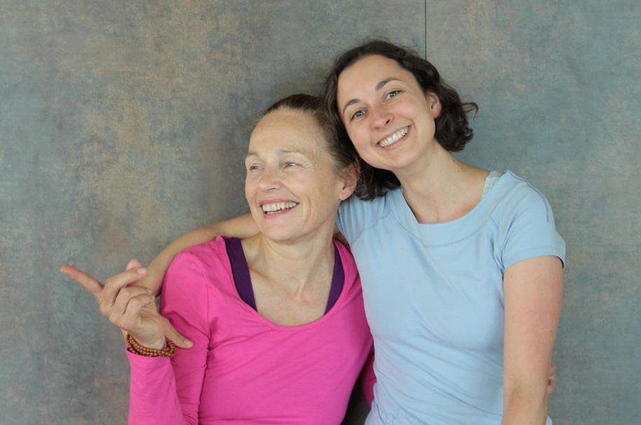 Lalla mit Yogastern-Bloggerin Stefanie