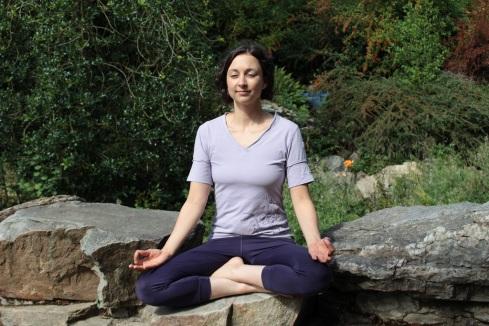 Meditation auf Felsen